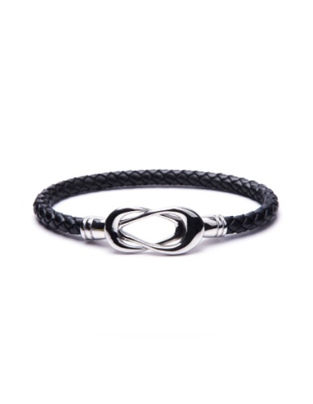 circle knot leather black